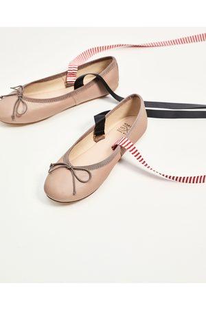 Mujer Flats - Zara BAILARINA PIEL LAZOS INTERCAMBIABLES - Disponible en más colores
