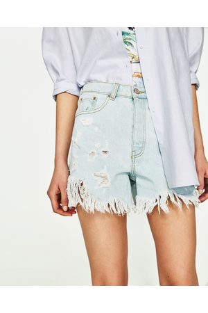 Mujer Shorts - Zara BERMUDA ROTOS Y LAZO