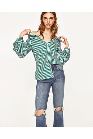 Mujer Jeans - Zara JEANS TIRO ALTO ROTOS
