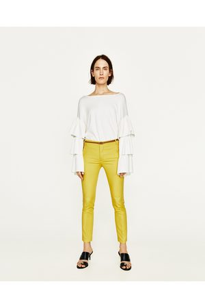 Moda online Cinturones Y Tirantes de mujer color amarillo ¡Compara ... e2a6a0159ce