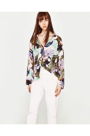 Mujer Jeans - Zara JEANS TIRO ALTO CON ROTOS