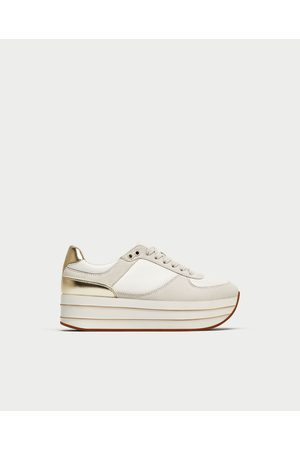 ¡compara Tenis Zapatos Mujer Deportivos Zara Y Ahora Blancos De HI9WED2