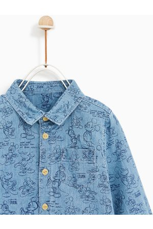 Zara CAMISA DENIM MICKEY MOUSE