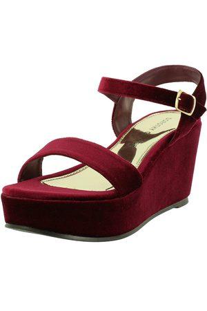 Tienda Compra ¡compara Mujer Color Y De Zapatos Sandalia Rojo Ahora bY7gy6f