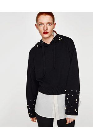 Zara SUDADERA PERLAS CAPUCHA - Disponible en más colores