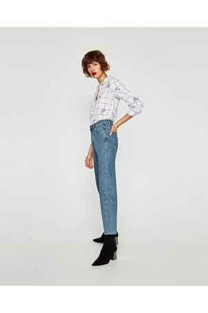 Zara JEANS MOM FIT TIRO ALTO - Disponible en más colores