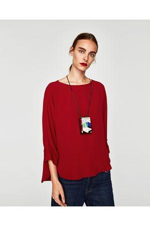 Zara BLUSA FLUIDA MANGA FRUNCES - Disponible en más colores