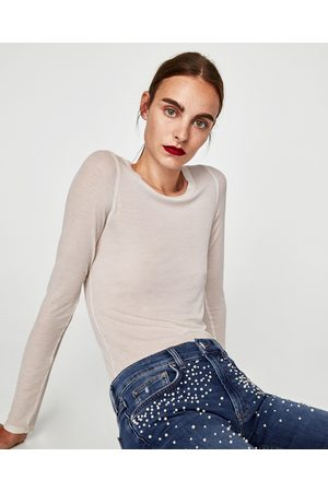 Zara JEANS THE SLIM BOYFRIEND PEARLS