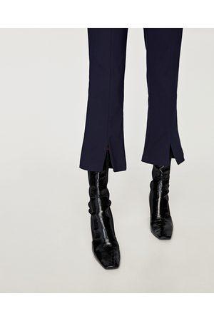 Zara PANTALÓN CROPPED DETALLE COSTURA - Disponible en más colores