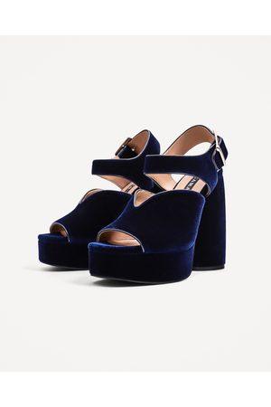 Plataforma Zara Zapatos Tacones Con Ahora Mujer Y Azules ¡compara De 4L5RjA