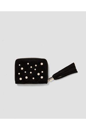Zara MONEDERO TERCIOPELO PERLAS - Disponible en más colores