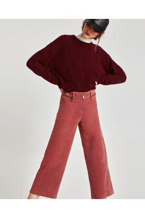 Pantalones Anchos Y De Harem Zara Pana Para Mujer Fashiola Mx