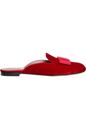 "Tabitha Simmons Zapatos Mules ""masha"" De Terciopelo Con Lazo 10mm"