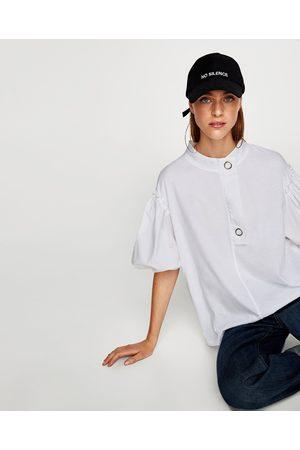Zara CAMISETA MANGA GLOBO - Disponible en más colores