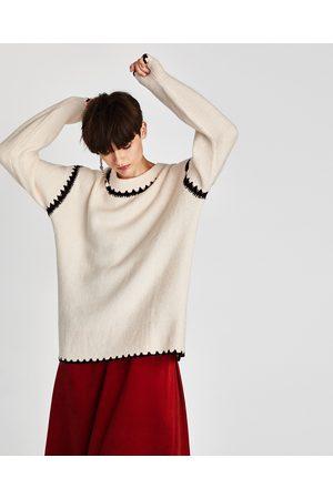 Zara JERSEY DETALLE CONTRASTE - Disponible en más colores