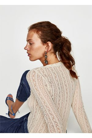 Zara CAMISETA ENCAJE - Disponible en más colores
