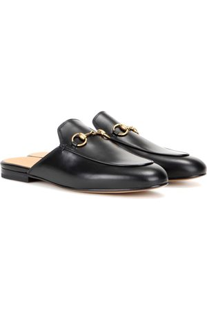 Gucci Mujer Zuecos - Princetown leather slippers