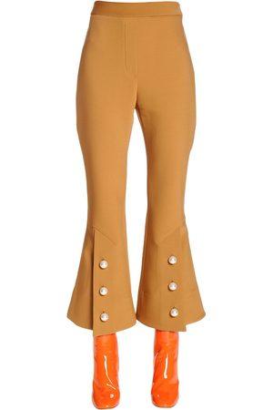 Moncler Pantalones Cropped morado