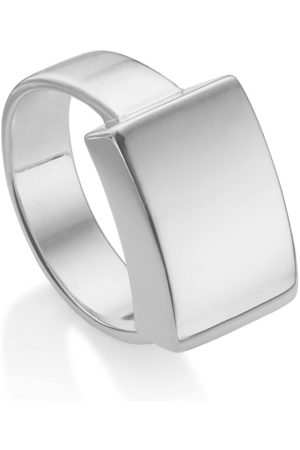 Monica Vinader Mujer Pulseras - Sterling Silver Linear Large Plain Ring