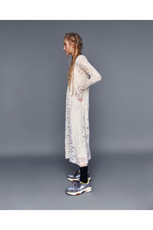 Zara Mujer Maxi - VESTIDO LARGO ENCAJE