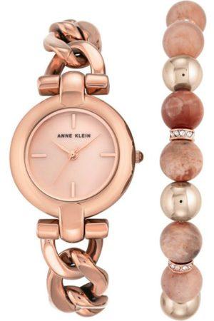 Box set reloj para dama Anne Klein AK2836SUNS oro rosado