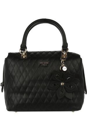 Bolsa satchel capitonada Guess negra