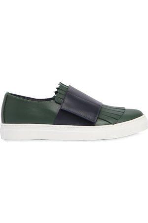 Marni Sneakers De Piel Con Flecos