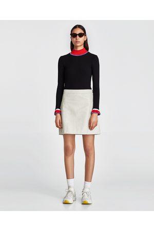 Zara FALDA EFECTO PIEL - Disponible en más colores