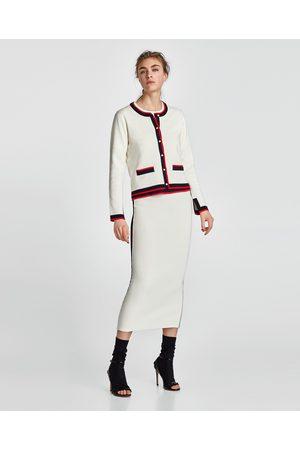 Zara Mujer De tubo - FALDA TUBO BANDA LATERAL - Disponible en más colores