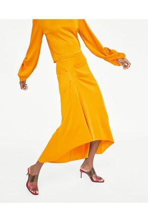 Zara Mujer Plisadas - FALDA PLIEGUES