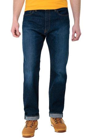 Jeans Levi's 501 corte regular fit algodón azul oscuro
