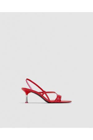 e1441290 Con Hebilla de mujer Zara sandalias rojas ¡Compara ahora y compra al mejor  precio!