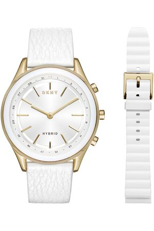Box set de Smartwatch híbrido para dama DKNY Minute Woodhaven NYT6101