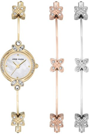 Box set reloj para dama Anne Klein Gold Collection AK3042TRST