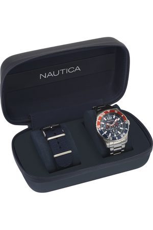 Box set de reloj para caballero Nautica White Cap Box Set NAPWHC002