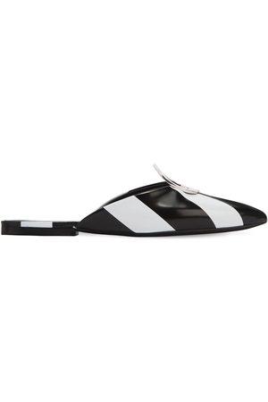 Proenza Schouler Zapatos Mules A Rayas Con Anilla De Metal 10mm