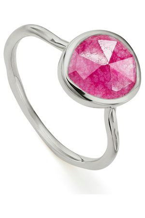 Monica Vinader Mujer Anillos - Sterling Silver Siren Stacking Ring Pink Quartz