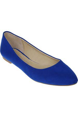 Balerina lisa CLOE azul eléctrico