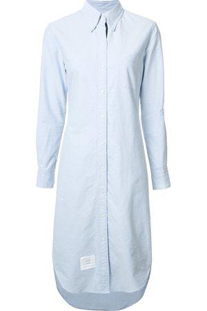 Thom Browne Vestido camisero con detalle de rayas