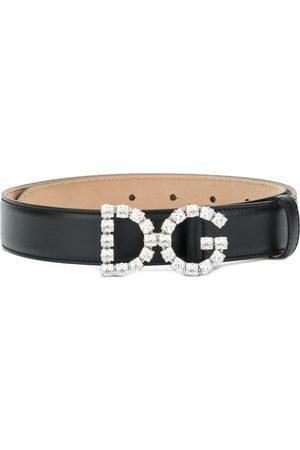 Dolce & Gabbana Mujer Cinturones - Cinturón con hebilla del logo y detalles