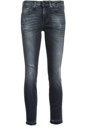 R13 Skinny jeans con corte capri