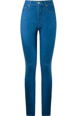 AMAPÔ Mujer Jeans - Vaqueros pitillo con talle alto