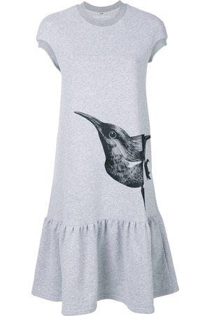 Ioana Ciolacu Mujer Estampados - Vestido estilo camiseta con pájaro estampado