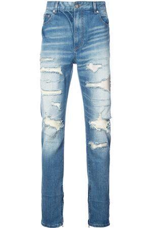 God's Masterful Children Jeans con corte recto rasgados
