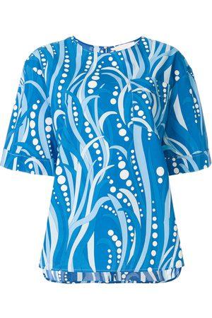 La DoubleJ Mujer Playeras - Camiseta Polipo de corte recto