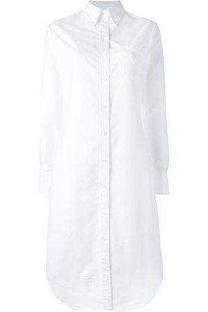 Thom Browne Vestido camisero midi con botones