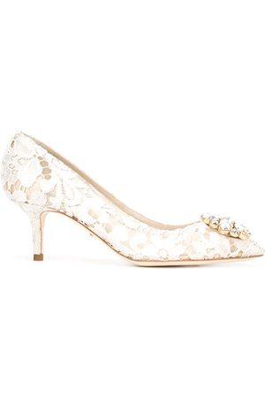 Dolce & Gabbana Zapatos de tacón con encaje floral
