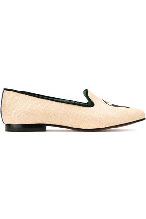 Blue Bird Shoes Mujer Mocasines - Leather and straw Tucano loafers