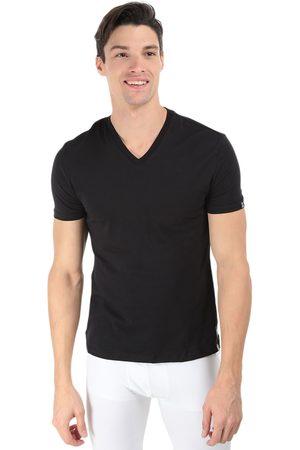 Camiseta Psycho Bunny cuello V algodón negra