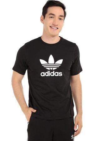 Playera Adidas Originals cuello redondo algodón negra